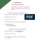 FM All Chapters Formula