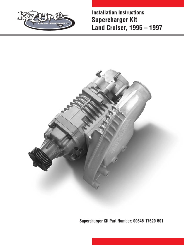 supercharger kit land cruiser throttle belt mechanical rh scribd com Supercharger Kits for Crown Victoria Thunderbird Supercharger