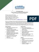 Project Assistant Job Announcement