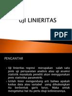 Uji Linearitas