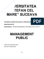 Proiect Management Public - Institutia in Care Lucram