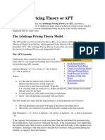 Arbitrage Pricing Theory or APT