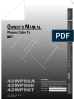 Plasma 42wp56a User Manual