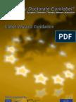Label Award Guidance