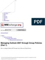 Managing Outlook 2007 Through Group Policies Part1