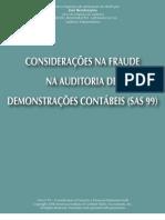 CONSIDERAÇÕES NA FRAUDE NA AUDITORIA DE DEMONSTRAÇÕES CONTABEIS