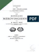 Les monnaies mérovingiennes / par Maurice Prou