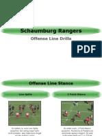 2009 Offense Line Drills