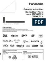 Panasonic DMP-BDT110 Bluray Player Manual
