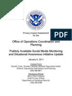 DHS Monitoring Social Media