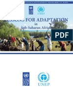 Lessons Fo Adaptation in Sub-Saharan Africa