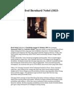 Biografi Alfred Bernhard Nobel