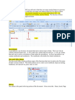 Copy of Getting Started With Excel 2007 You Will Notice That There Are Many Similar Features to Previous Versions