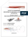 Wings Design and Application in Flight Theory