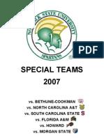 Norfolk State Special Teams