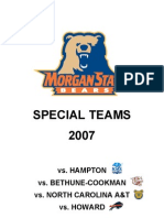 Morgan State Special Teams