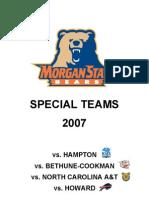 Morgan State Special Teams