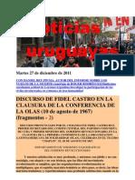 Noticias Uruguayas Martes 27 de Diciembre de 2011