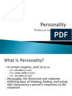 Lecture 9 - Personality