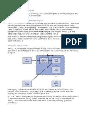 Mysql Workshop | Sql | Databases