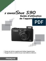 Notice d'Utilisation Canon Powershot S90
