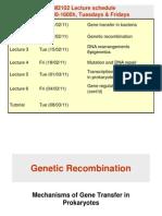 Lecture 1 - Gene Transfer in Bacteria