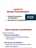 Lecture 2 - Genetic Re Combination