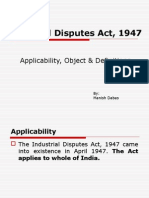 1. IDA, 1947 Object, Applicability & Definitions
