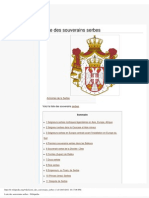 Liste des souverains serbes - Wikipédia