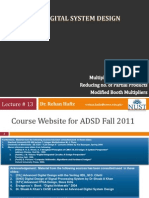 ADSD Fall2011 13 Multipliers Reduced Partial Products