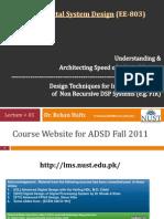 ADSD Fall2011 05 Architect Ing Speed 2011Nov03