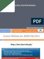 ADSD Fall2011 09 Fixed Point Representation