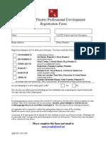 Tech Theatre PD Reg Form