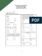 Math Test2 Form 1