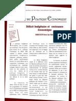 Deficite Budgetair Et Croissance que