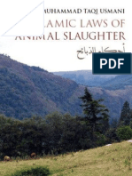 The Islamic Laws of Animal Slaughter- Mufti Taqi Usmaani
