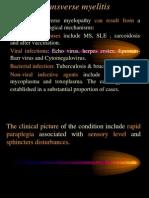 Spinal cord lesion (Transverse myelitis) د.رشاد عبدالغني