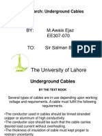 Research on Underground Cables