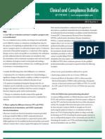 Evergreen Rehab Clinical & Compliance Bulletin 2012 Q1