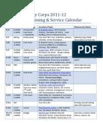 Member Training Plan 2011-12