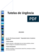 tutelas de urgencia - apresentação