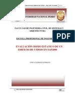 EDIFICIO 5 PÍSOS EN SAP2000 - 1ra PARTE