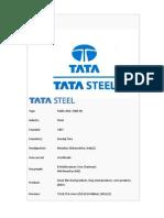 Presentation on Tata Steel
