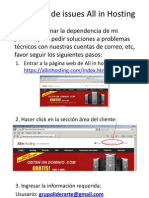 Resolución de issues All in Hosting