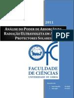Absorção Protectores Solares 2011