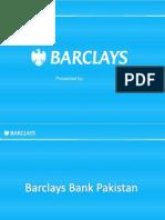 Presentation on Barclays Bank