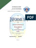 INFORME Nº 07 LABOARTORIO DE MECANICA DE FLUIDOS E HIDRAULICA