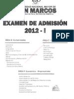 Examen de Admision SAN MARCOS 2012 i Enunciados
