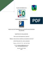 Plan de Negocios Del Programa de Competencias Laborales de as de Buena Voluntad