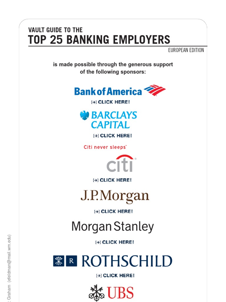 Top 25 Banking European Edition 2010 | Investment Banking